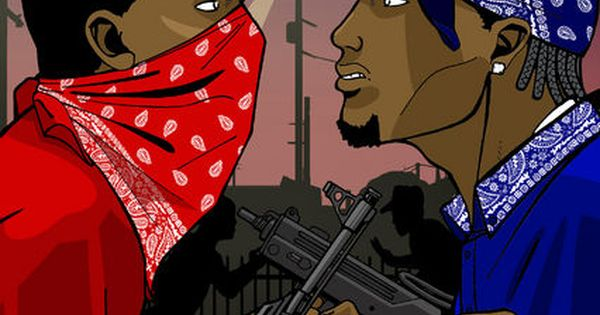 Bloodz and crips stop killing hip hop with ignorance - Blood gang cartoon ...
