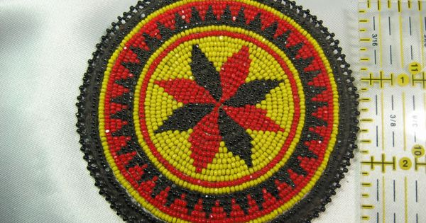 You were Native american beaded rosettes strips headbands many thanks