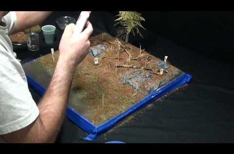 Make Your Own Diorama: Diorama Making Tutorial: How To Use Cork To Make Rubble