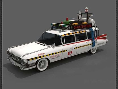 ghostbusters ecto 1 paper car free papercraft download. Black Bedroom Furniture Sets. Home Design Ideas