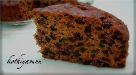 Cake Recipes In Kerala Style: Kothiyavunu.com : Kerala Plum Cake/ Christmas Fruit Cake