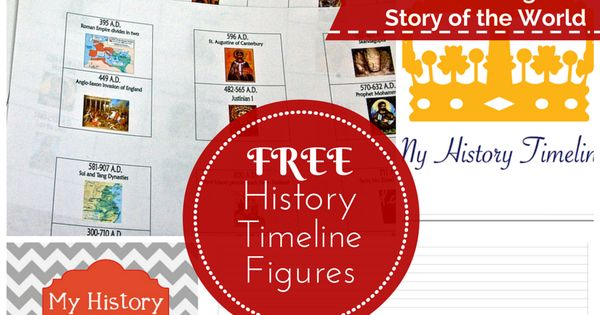 Free Timeline Figures Homeschool Matching Story Of The