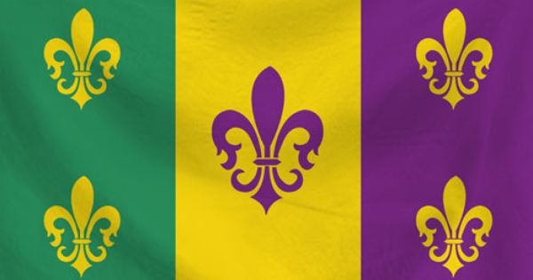 Louisiana State Flag Redesign Simple Design Using Mardi Gras Colors The Five French Fleur De Lis Represent The 5 Main State Flags Louisiana State Louisiana