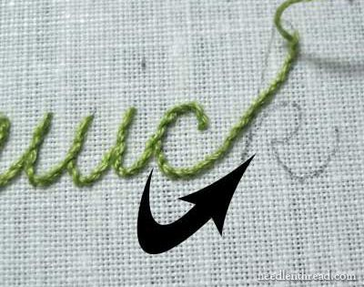Hand stitching letters tutorial