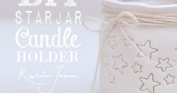 DIY handmade Clay Star Jar Candle Holder VIDEO tutorial - Turn mason