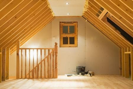 How To Create Extra Living Space In Your Attic Attic Remodel Attic Renovation Attic House