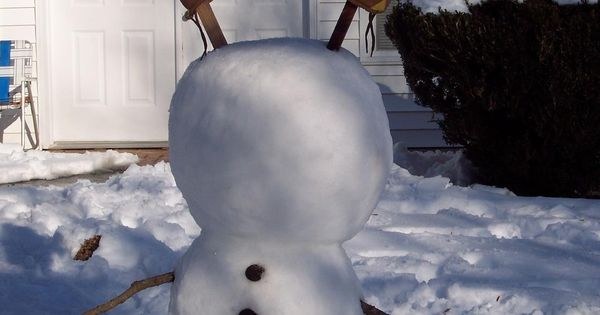 Upside down snowman. LOL cute idea!!.. might do it this winter with