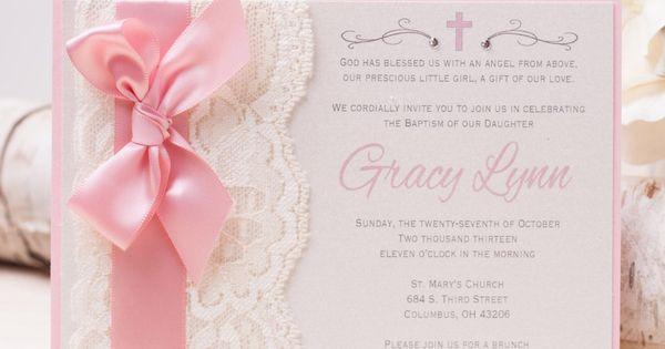 precious moments baptism invitations girl | baptism ...