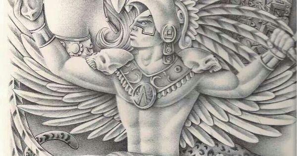 Aztec warrior | Tattoos | Pinterest | Aztec warrior, Aztec ...