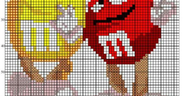 Cross Stitch Pattern M Amp M Candies Cross Stitch