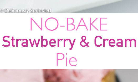 No-Bake Strawberry & Cream Pie by deliciouslysprinkled Pie Strawberry No_Bake