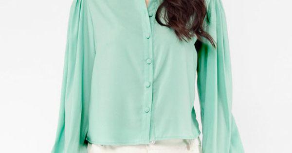 mint blouse $55. // wantwantwant!!!