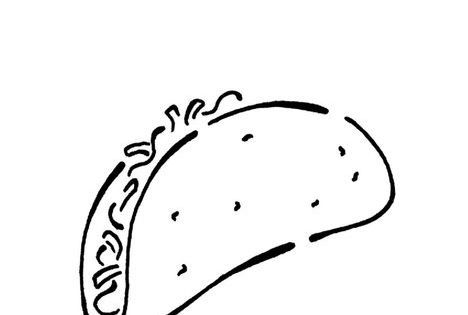 taco coloring pages for kids - photo #46