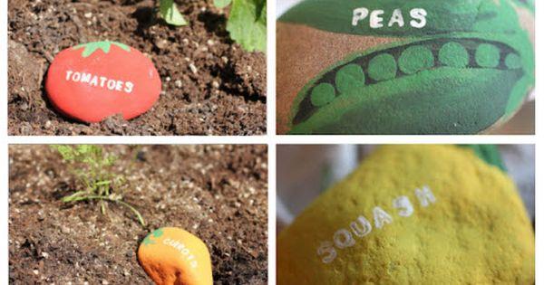 Vegetable Garden Rock Labels - love this idea for the veggie garden