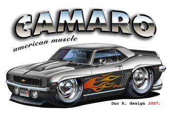 Muscle Car Cartoon Art Home Cartoon Cars Wallpapers