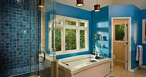 Cobalt blue bathroom design discreat decor pinterest - Cobalt blue bathroom accessories ...