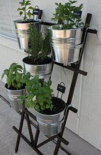 Diy Hanging Herb Garden Using Trellis From Home Depot And