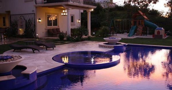 pool, hot tub, and jungle gym for my future children. yep ...