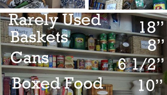 Build a kitchen Pantry in a coat closet + organizing tips. pantry