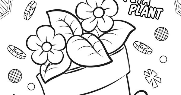 Peta Plant Coloring Pages