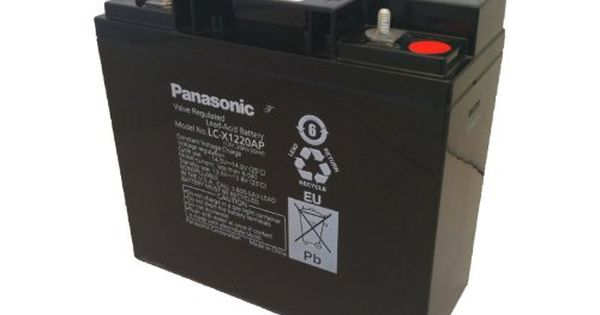 Introducing Panasonic Lcx1220ap Large 12v 20ah Vrla Battery With Internal Threaded Post M5 Terminal Black Get Your Car Parts He Panasonic Car Battery Battery