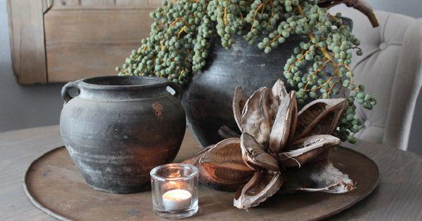 Pizzaplaat 60 cm potten kruiken vazen huis haard pinterest decoratie haard en - Oude huisdecoratie ...