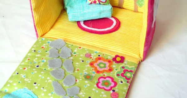 Fabric dollhouse - love it - it is the most colorful and