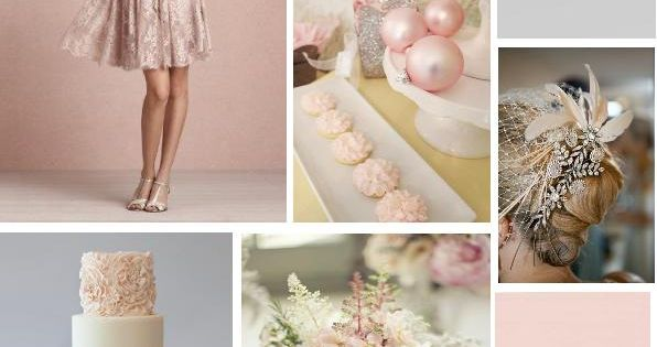 silver and pink winterwedding ideas | Blush Pink, Silver and Grey Winter