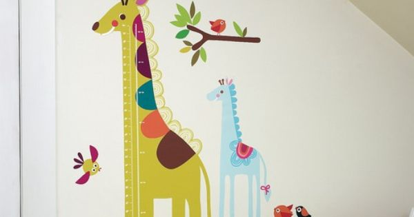 The Wallies Wall Play Peel & Stick Decor Giraffe Growth Chart is