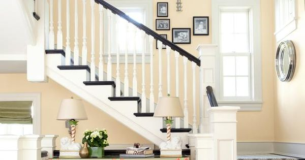 Stairway - Mixing Paint Colors and Patterns on HGTV this is the