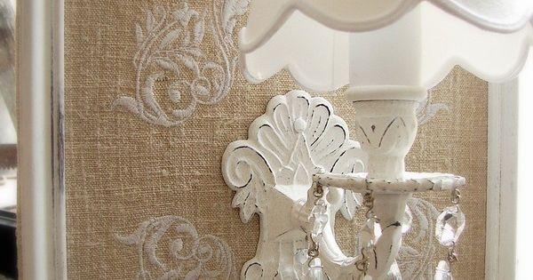 shabby decorating lamps pinterest shabby chic pochoirs et bouchons. Black Bedroom Furniture Sets. Home Design Ideas