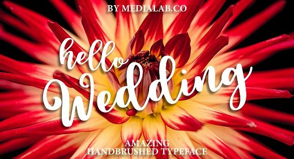 Hello Wedding – sweet hand lettered font with swirls and alternates