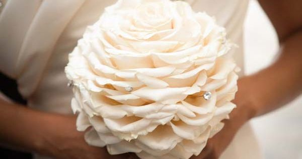 Single bloom Wedding Bouquet White wedding receptions ... Wedding ideas for brides,