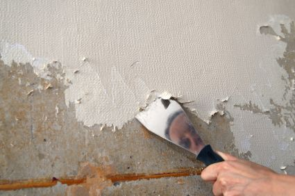 How To Remove Textured Wallpaper Removing Old Wallpaper Painting Over Wallpaper Wallpaper Repair