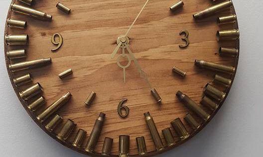 Bullet Casing Clock, Ammo Clock, Ammo Home Decor, Bullet ...