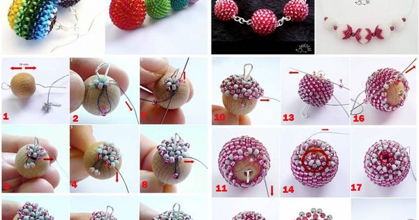 DIY - Free Beaded Bead Tutorial | Beaded Bead Patterns | Pinterest