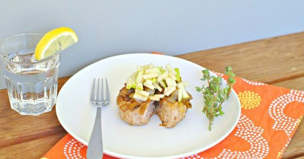 Pork Burger with Onion Thyme Jam & Fresh Apple   Recipe   Onions ...