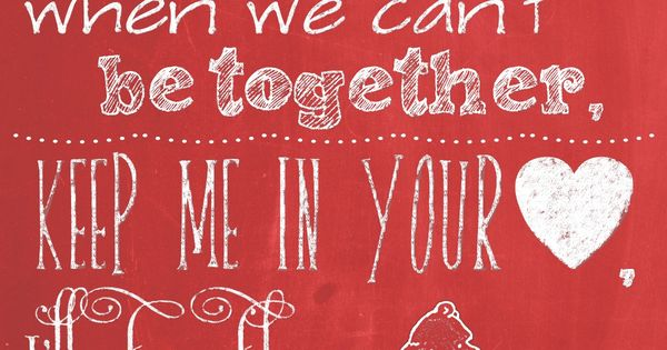FREE printable - Winnie the Pooh chalkboard quote