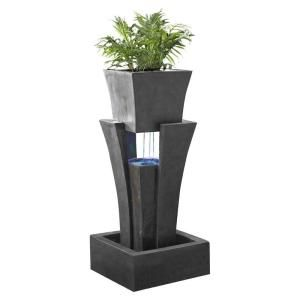Fountain Cellar Raining Water Fountain With Planter Led Light Fcl048 The Home Depot Water Fountain Backyard Water Fountains Tabletop Fountain