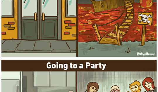 What The World Looks Like With Social Anxiety---funny because it's true!