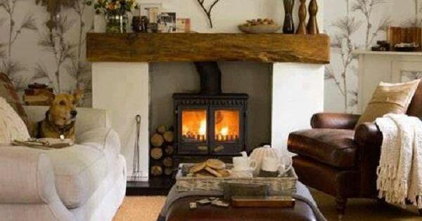 Wood stove made to look like fireplace ideas for living - Wood stove ideas living rooms ...