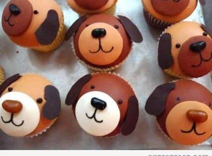 puppy cupcakes. the buddy's first birthday.