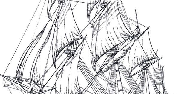 Ships 4 Adult Coloring Pages Tegninger Pinterest