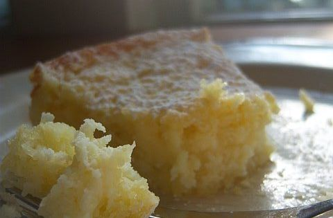 Lemony Cream Butter Cake -- I live for lemon cakes.