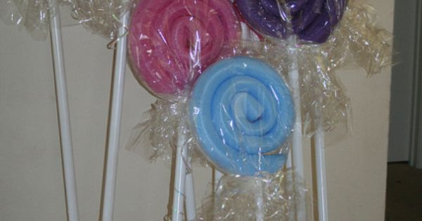 "Swimming Pool Noodle ""Candy""- fun idea for a pool party, or kid's"