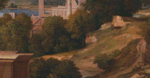 nicolas poussin landscape with saint john on patmos