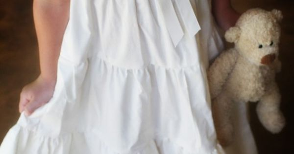 Muslin nightgown ... Looks like a peasant dress with ruffles
