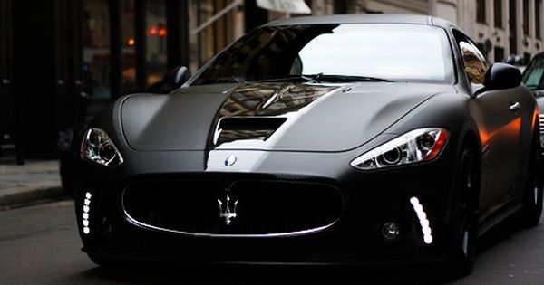 matte black Maserati GranTurismo S celebritys sport cars ferrari vs lamborghini| http://luxury-sports-cars-terrill.blogspot.com