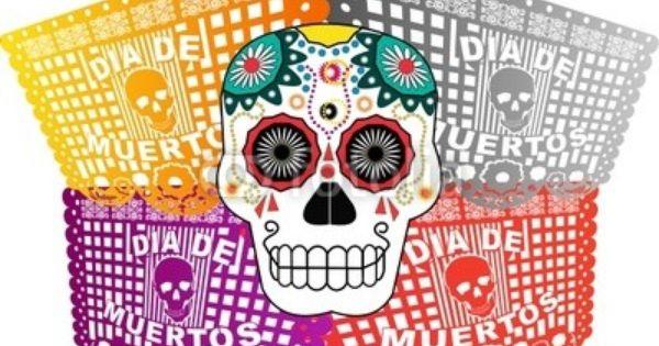 Papel Picado D A De Muertos Calavera Queca 36340592 Ver Dia De Los Muertos Dia De Muertos Muerte