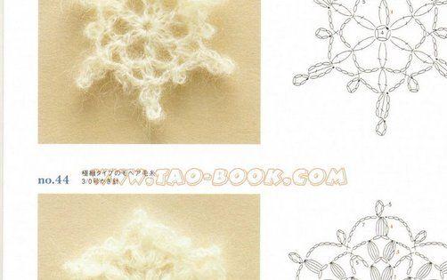 Crochet Snowflakes with diagram patterns. - Virkat Snöstjärna 363 ...
